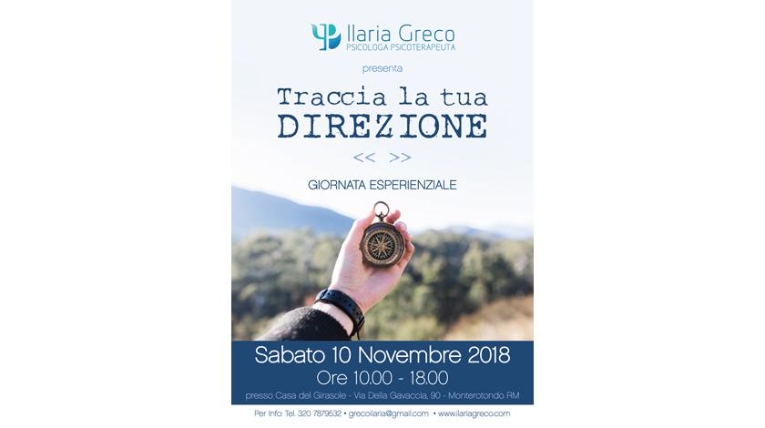 """Giornata esperienziale """"Traccia la tua direzione"""" - Ilaria Greco"""